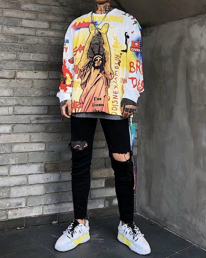 リバティグラフィティロングTシャツの画像4